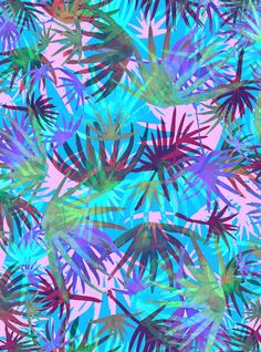 Tropicana - Blue Art Print By SchatziBrown #tropical #floral
