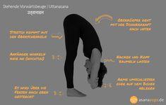 Uttanasana bringt Flexibilität in die Wirbelsäule und das Becken. Die Asana hilft auch bei starken psychischen Belastungen und Müdigkeit. Jetzt ansehen!