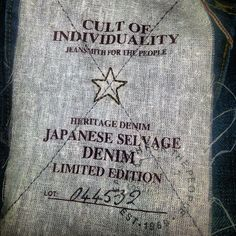 INK361 - Photo - Selvage denim from cult of individuality