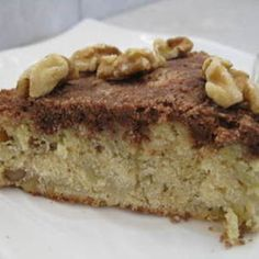 Apple & Walnut Coffee Cake Loaded With Apples