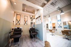 サロン制作事例|SALON|美容室(サロン)の設計・内装・デザイン≪タフデザインプロダクト≫ Hair Salon Interior, Salon Interior Design, Salon Design, Barber Shop, Salons, Salon Ideas, Table, Furniture, Home Decor