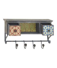 Another great find on #zulily! Wall Hook & Drawers #zulilyfinds