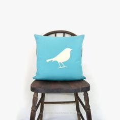 SALE / Blue outdoor pillow cover  Garden decor  by ClassicByNature, $40.80