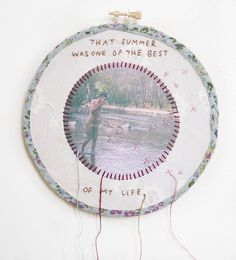 I don't really miss you, 2012. Embroidery works by Lindsay Bottos