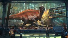 Mesozoic Land: Acrocanthosaurus, Raph Lomotan on ArtStation at https://www.artstation.com/artwork/NGA9d