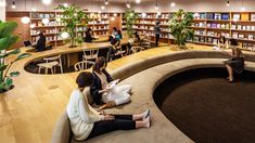 Woman's inspiration library completed by Masayoshi Nakanishi in Japan - I spy… unique library designs with focus on personalized comfort. (WiL Woman's inspiration Libr - Public Library Design, Bookstore Design, School Library Design, Kids Library, Modern Library, Central Library, Library Ideas, Architecture Design, Library Architecture