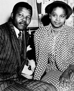 Young Nelson and Winnie Mandela.