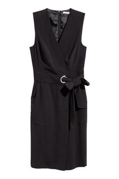 823b794d9d Kopertowa sukienka - Czarny -