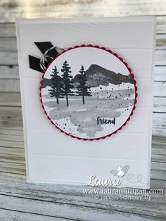 Love the Waterfront Stamp set- create beautiful cards! details on my blog www.lauramilligan.com #diycards #waterfront #papercraft