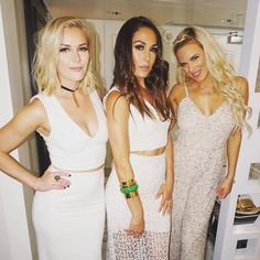 Renee Young, Brie Bella and Lana