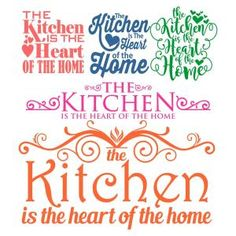 The Kitchen SVG Cuttable Design Cut File. Vector, Clipart, Digital Scrapbooking Download, Available in JPEG, PDF, EPS, DXF and SVG. Works with Cricut, Design Space, Sure Cuts A Lot, Make the Cut!, Inkscape, CorelDraw, Adobe Illustrator, Silhouette Cameo, Brother ScanNCut and other compatible software.