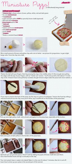 Miniature pizza tutorial, part one