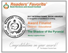 3 of the Shadows from the Past series have just won Finalist places in the Readers' Favorite International Book Awards 2017 - The Shadow of Atlantis, The Shadow of the Minotaur and The Shadow of the Pyramid.