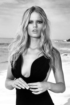 """senyahearts:  Anna Ewers by Norman Jean Roy in """"Life's A Beach"""" for Harper's Bazaar US, May 2015"""
