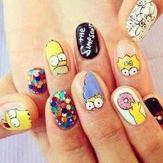 Here are some hot nail art designs that you will definitely love and you can make your own. You'll be in love with your nails on a daily basis. Halloween Acrylic Nails, Summer Acrylic Nails, Best Acrylic Nails, Disney Acrylic Nails, Pastel Nails, Crazy Nail Art, Crazy Nails, Ongles Hello Kitty, Kitty Nails