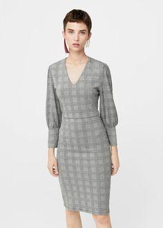 Puffed sleeves dress -  Woman | MANGO Slovenia