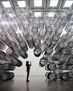 Ai Weiwei's stacked bicycles