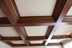Кессонный потолок из дерева 1 часть