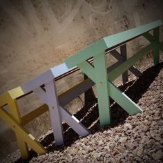 Cross Bench Seats - handcrafted by RAW Sunshine Coast from reclaimed timber