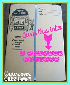 Undercover Classroom: Do It Yourself Privacy Folders
