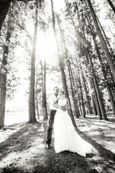 Simply stunning with the tall trees used in this photograph of the Bride and groom Lourensford Wedding - Pierre & Shannon. By Dewald Kirsten Wedding Images, Groom, Reception, Trees, Wedding Photography, Bride, Couples, Wedding Dresses, Outdoor
