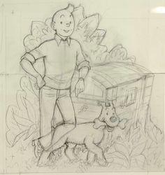 Sketch by Bob de Moor, another great artist.