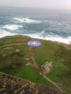 A Coruña, la rosa de los vientos  desde la torre de Hércules - noviembre 2014, por Carmen hb