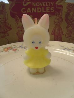 Gurley Easter Bunny Candle from the 1950's!