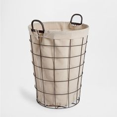 Zara Home New Collection Metal Laundry Basket, Metal Baskets, Laundry Hamper, Zara Home Collection, Clothes Basket, Tumblr Rooms, Laundry Room Design, Basket Decoration, Room Accessories