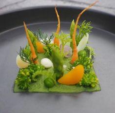 Beautiful vegetable plate.
