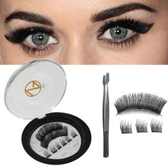 Magnetic Eyelashes - NO Glue Magnetic REUSABLE Full Size Lightweight Natural Look Magnet Lashes False Lash Extensions with false lash Applicator Round-End Tweezers Prime Day Deals, False Lashes, Fake Eyelashes, Magnetic Eyelashes, Christmas Gifts For Her, How To Apply Makeup, Party Accessories, Estee Lauder, Natural Looks