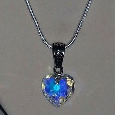 my jewelry Authentic Swarvoski heart necklace on sterling by ILoveBeads247, $14.00