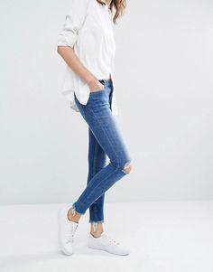 Samsoe & Samsoe Alice Skinny Jeans in Trashed Wash