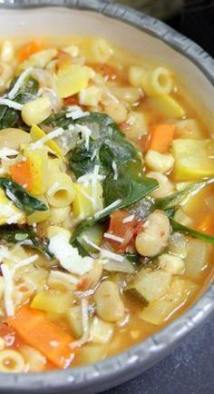 seven vegetable minestrone soup....