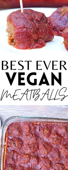 These are the BEST EVER Vegan Meatballs! Even meat-lovers will like them. They're a healthy and delicious appetizer or side dish!