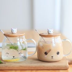 mug cup Online Shop New Cute Cat Milk Mugs High Borosilicate Glass Tea Cup With Cover Spoon Heat-resisting Milk Mug Breakfast Dinnerware Objet Wtf, To Go Becher, Cute Water Bottles, Glass Tea Cups, Cute Cups, Cute Kitchen, Funny Mugs, Tea Mugs, Mug Cup