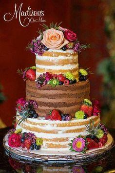 chocolate and vanilla naked cake