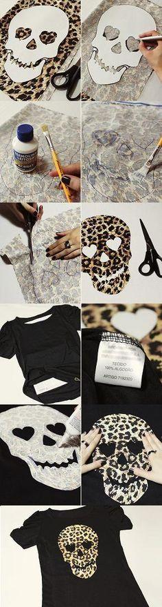 Pinspire - Pin de Jacqueline Araujo: Fazer caveira em tecido para colar em blusa