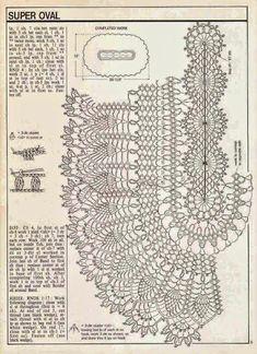 Resultado de imagen para manteles ovalados tejidos a crochet