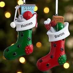 Paw-fect Pet Stocking Ornament | Personal Creations