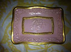 Checkout this amazing product Vintage Italian small jewelry dish  soap dish goddess on serpent pick gold leaf at Shopintoit