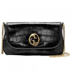 1aae7213d858c1 Gucci 1973 Medium Shoulder Bag 251820 Black Gucci Shoulder Bag, Small Shoulder  Bag, Chain