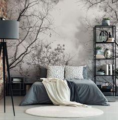Ideas Master Bedroom Wall Tiles For 2020 Bedroom Wall, Bedroom Decor, Master Bedroom, Black And White Living Room, Black And White Wallpaper, Room Wallpaper, Forest Wallpaper, Photo Wallpaper, My New Room