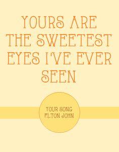Your Song ~ Elton John
