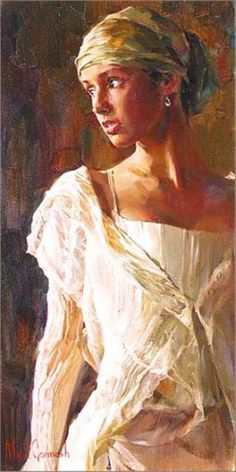 Gentle Light by Michael and Inessa Garmash, a limited edition available from J Watson Fine Art 661 your source for Garmash art. Portraits, Maker, Beautiful Paintings, Awesome Paintings, Oeuvre D'art, Female Art, Painting & Drawing, Art Photography, Art Gallery