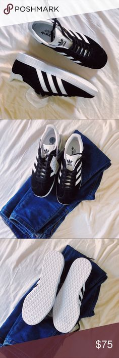 NWT Adidas Gazelle Wm Sz. 7 > Brand new Adidas Gazelle Size 7 > Suede Texture > Sporty & Edgy > Wear with skinny jeans, a crop, and baseball cap! > Perfect for vacationing and Instagramming!  🔺🔻🔺  ⚡️ MAKE AN OFFER!⚡️ 📷 I take all my own photos; no stock photog here! ❓Ask questions! adidas Shoes Sneakers