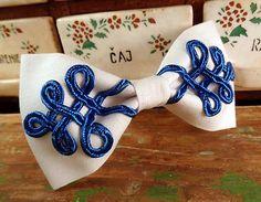 Šujtašový Jano motýlik / Soutache Jano bowtie Bowties, Handmade, Janus, Tie Bow, Hand Made, Bows, Craft, Bow Ties, Handarbeit