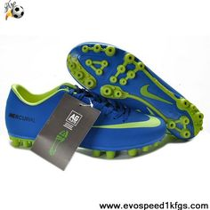 2013 Blue Green Nike Mercurial Vapor IX AG Soccer Shoes For Sale