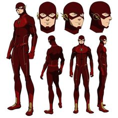 Flash model sheet from our Vixen web series on CW Seed.
