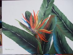 Bird of Paradise painted especially for my brother